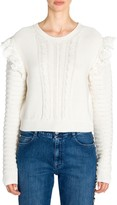 Stella McCartney Crochet Knit Ruffled Sweater