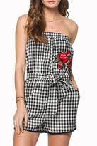 Everly Gingham Embroidered Romper