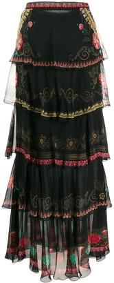 Etro Layered Prairie Skirt