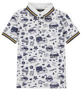 George Truck Print Polo Shirt