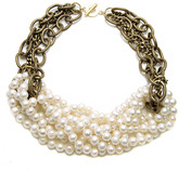 Janna Conner Knotted White Pearl Necklace