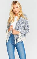 MUMU Beverly Tassel Blazer ~ Out of the Blue Textile