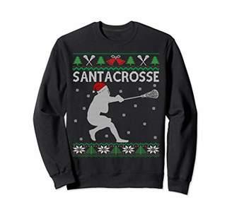 LaCrosse Santacrosse Funny Player & Fan Gift Ugly Christmas Sweatshirt