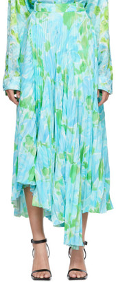 Balenciaga Blue Floral Dynasty Skirt