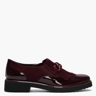 Luca Grossi Lumino Burgundy Patent Leather Fringe Loafers