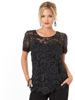 Anne Weyburn 100% Cotton Guipure Lace Blouse