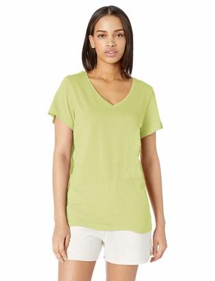 Hue Women's Plus Short Sleeve V-Neck Sleep Tee