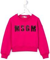 MSGM sequinned logo sweatshirt