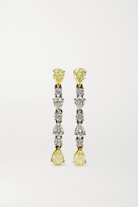 Bayco Platinum And 18-karat Gold Diamond Earrings