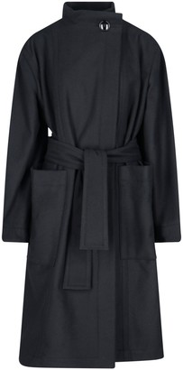 Lemaire High-Neck Belted Coat