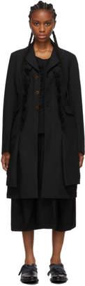 Comme des Garcons Black Ruffle Detail Coat