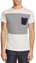 Superdry Lite Loomed Striped Pocket Tee