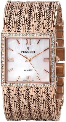 Peugeot Women's J1931RG Analog Display Japanese Quartz Rose Gold Watch
