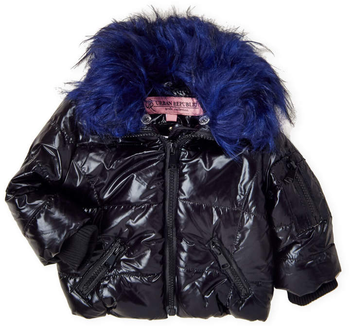 43f98fa58 Toddler Girls) Faux Fur Trim Quilted Puffer Coat