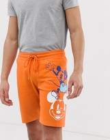 Asos Design DESIGN skinny shorts with Mickey Mouse print