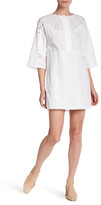 MiH Jeans Amo Embroidered Linen Blend Dress