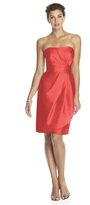 Alfred Sung D602 Bridesmaid Dress in Firecracker