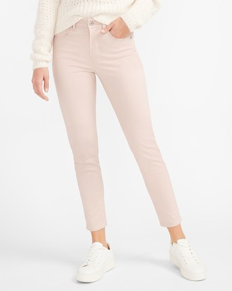 Express Mid Rise Sateen Skinny Pant
