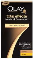 Olay Total Effects 7in1 Touch of Foundation with SPF 15 - Medium (50ml) - Pack of 2