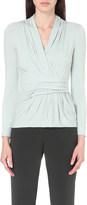 Armani Collezioni Faux-wrap jersey top