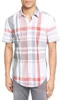 BOSS Men's Robb Sharp Fit Plaid Sport Shirt