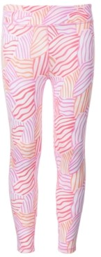 Ideology Big Girls Printed Caged Back Leggings, Created for Macy's