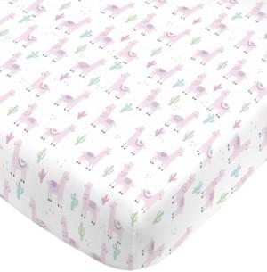 NoJo Llama Mini Crib Sheet Bedding