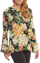 Preston & York Brianna Floral Print Blouse