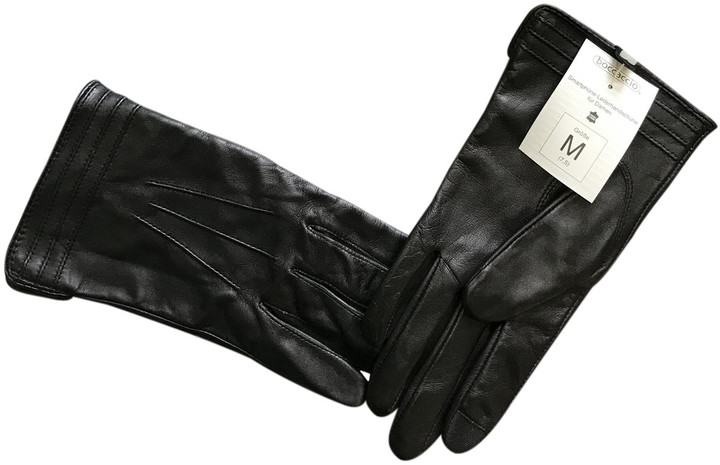 Thumbnail for your product : Linea Pelle Black Leather Gloves