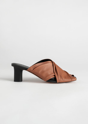 And other stories Criss Cross Soft Leather Mules
