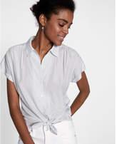 Express Oversized Dot Print Short Sleeve Shirt