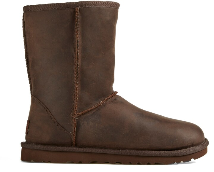 UGG Classic Short Wool Lined Leather Boot