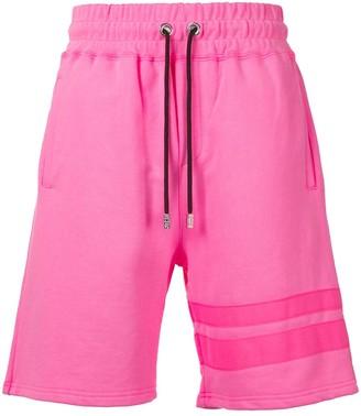 GCDS Double Stripe Track Shorts