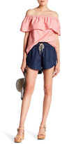 Kensie Drawstring Chambray Short