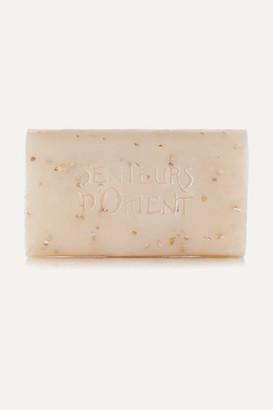 Senteurs d'Orient - Net Sustain Rough Cut Bath Soap - Almond Exfoliant, 210g