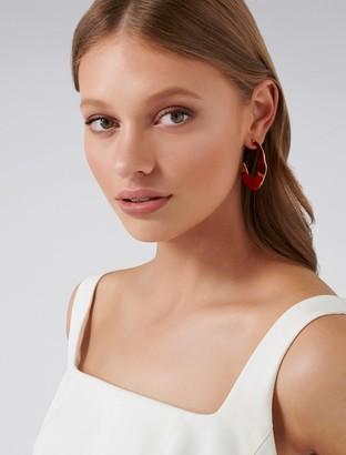 Ever New Sirena Enamel Statement Hoop Earrings