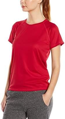 Stedman Apparel Women's Active 140 Raglan/ST8500 Regular Fit Short Sleeve Sports T-Shirt,(Manufacturer Size:Small)