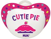 NUK Small Talk Big Button Pacifiers Bundle, Girl, 6-18 Months, 4 Count by
