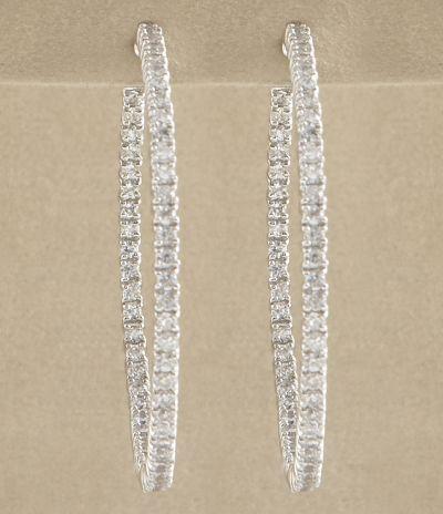 Kate Landry cz hoop earrings