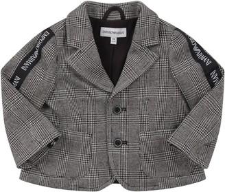 Armani Collezioni Pied De Poule Babyboy Jacket With White Logo