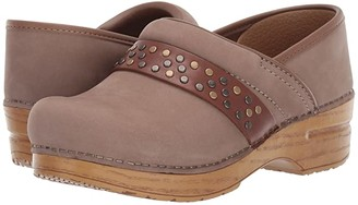 Dansko Pavan (Taupe Milled Nubuck) Women's Clog Shoes