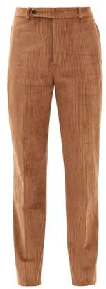 Holiday Boileau Gabi Cotton Blend Corduroy Trousers - Womens - Camel