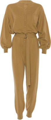 Cordova Corvara Belted Wool-Blend Jumpsuit Size: XS