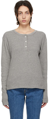 RE/DONE Grey Hanes Edition Thermal Henley