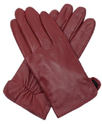 Dents Classic leather gloves Rose Red