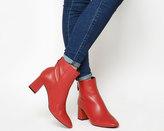 Office Avocado Block Heel Boots