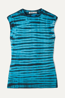 A Gold E AGOLDE - Tie-dyed Cotton-jersey Tank - Blue