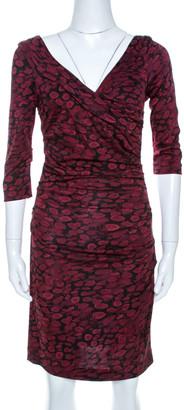 Diane von Furstenberg Burgundy Bentley Ruched Dress M