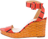 Kate Spade Striped Woven Wedges