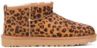 UGG Leopard-Print Ankle Boots